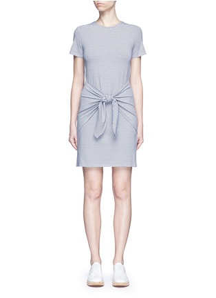 Main View - Click To Enlarge - Theory - 'Dakui' stripe waist tie jersey dress