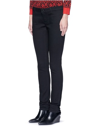 Front View - Click To Enlarge - Givenchy - Star patch denim pants