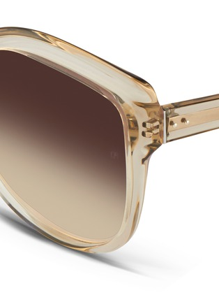 Detail View - Click To Enlarge - LINDA FARROW VINTAGE - Oversize square cat eye acetate sunglasses