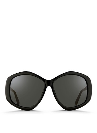 Main View - Click To Enlarge - LINDA FARROW - Oversize pentagon acetate sunglasses