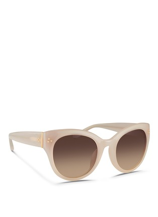 Figure View - Click To Enlarge - Linda Farrow - Oversize round cat eye acetate gradient sunglasses