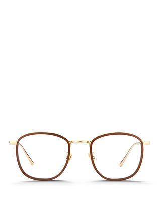 Main View - Click To Enlarge - Linda Farrow - Aluminium rim titanium optical glasses