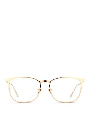Main View - Click To Enlarge - LINDA FARROW - Titanium square optical glasses