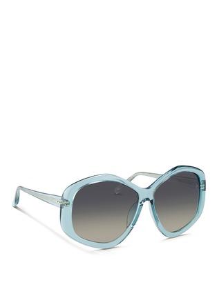 Figure View - Click To Enlarge - Linda Farrow - Oversize pentagon acetate sunglasses