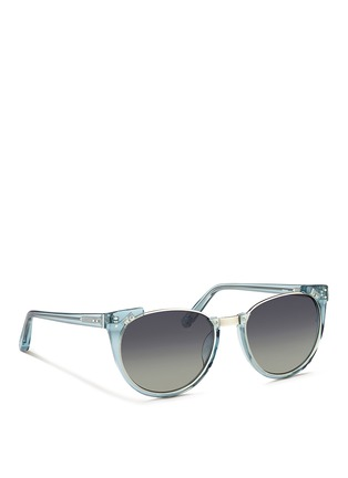 Figure View - Click To Enlarge - Linda Farrow - 'Upside Down Browline' titanium rim acetate sunglasses