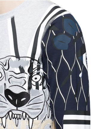 Detail View - Click To Enlarge - KENZO - Mix logo embroidery sweatshirt