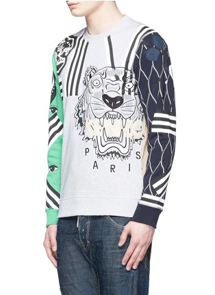 Front View - Click To Enlarge - KENZO - Mix logo embroidery sweatshirt