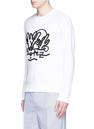 Front View - Click To Enlarge - KENZO - 'Dancing Cactus' appliqué sweatshirt