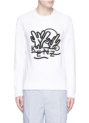 Main View - Click To Enlarge - KENZO - 'Dancing Cactus' appliqué sweatshirt