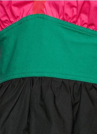 Detail View - Click To Enlarge - ISA ARFEN - Colourblock off-shoulder peplum top