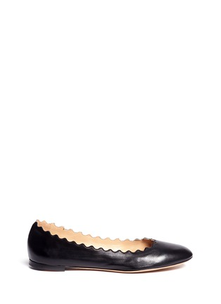 Main View - Click To Enlarge - Chloé - 'Lauren' scalloped edge leather flats