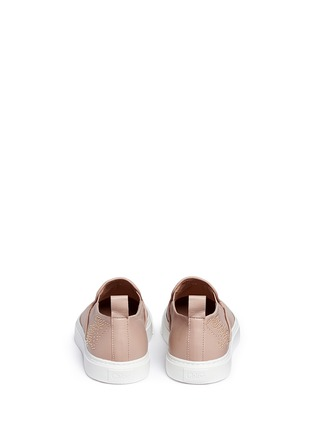 Back View - Click To Enlarge - Chloé - Floral stud leather skate slip-ons