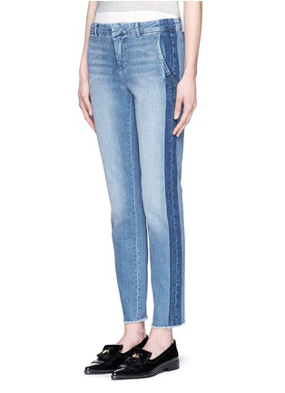 Front View - Click To Enlarge - Vince - Contrast side strapping cotton jeans