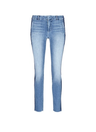 Main View - Click To Enlarge - Vince - Contrast side strapping cotton jeans