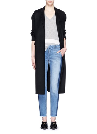 Figure View - Click To Enlarge - Vince - Contrast side strapping cotton jeans