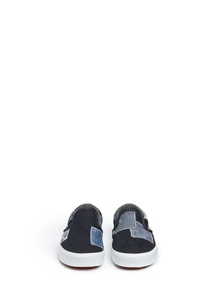 Figure View - Click To Enlarge - Vans - 'Classic' patchwork denim skate slip-ons