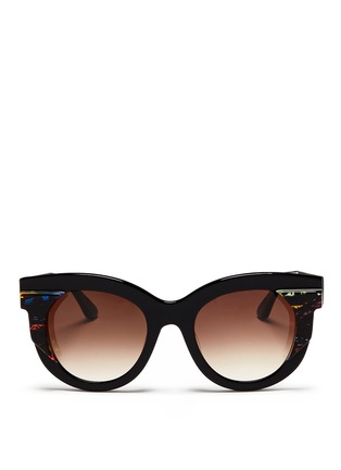 Main View - Click To Enlarge - Thierry Lasry - 'Slutty' pearlescent contrast acetate cat eye sunglasses