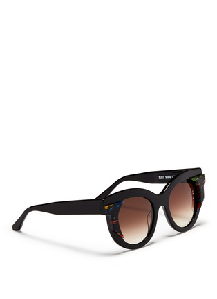 Figure View - Click To Enlarge - Thierry Lasry - 'Slutty' pearlescent contrast acetate cat eye sunglasses
