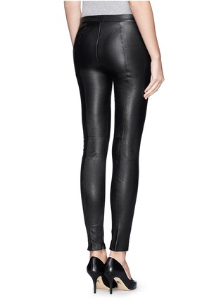 Back View - Click To Enlarge - VINCE - Lamb leather leggings