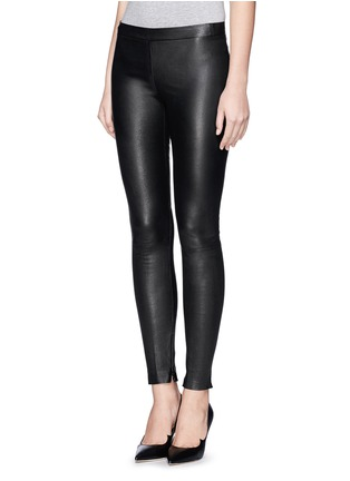Front View - Click To Enlarge - Vince - Lamb leather leggings