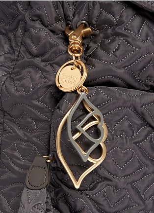 Detail View - Click To Enlarge - See by Chloé - 'Bisou' small logo stitch backpack