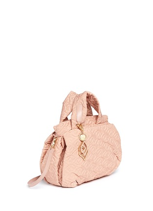 Front View - Click To Enlarge - See by Chloé - 'Bisou' logo stitch shoulder bag
