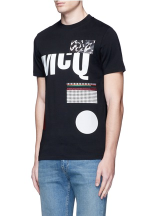 Front View - Click To Enlarge - McQ Alexander McQueen - Mix logo print cotton T-shirt