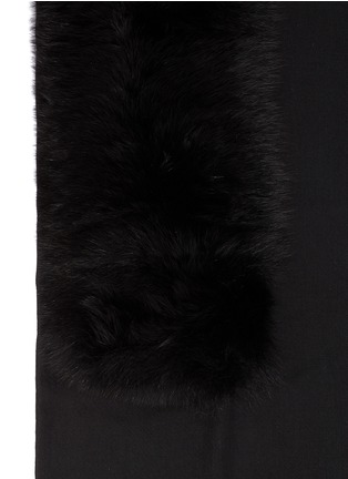Detail View - Click To Enlarge - Valentino - Fox fur cashmere scarf