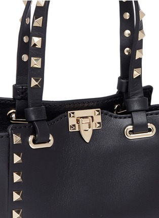 Detail View - Click To Enlarge - Valentino - 'Rockstud' micro mini leather tote