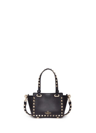 Back View - Click To Enlarge - Valentino - 'Rockstud' micro mini leather tote