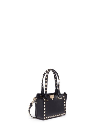 Front View - Click To Enlarge - Valentino - 'Rockstud' micro mini leather tote