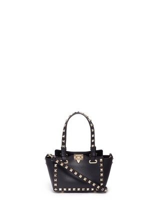 Main View - Click To Enlarge - Valentino - 'Rockstud' micro mini leather tote
