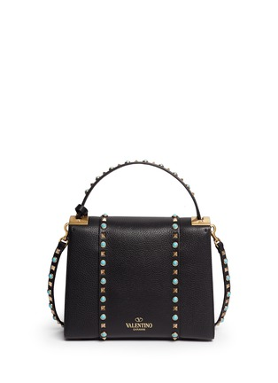 Back View - Click To Enlarge - Valentino - 'My Rockstud Rolling' small cabochon stud leather bag