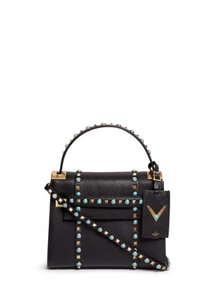 Main View - Click To Enlarge - Valentino - 'My Rockstud Rolling' small cabochon stud leather bag