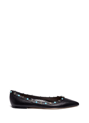 Main View - Click To Enlarge - Valentino - 'Star Studded' leather skimmer flats