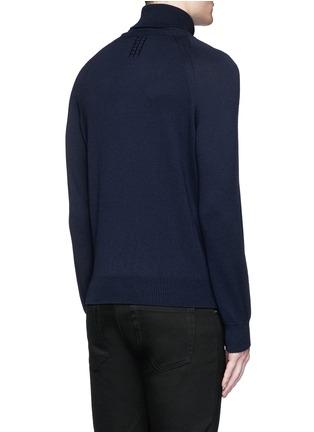 Back View - Click To Enlarge - SAINT LAURENT - Turtleneck wool sweater
