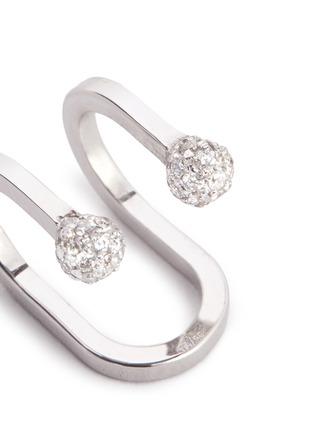 Detail View - Click To Enlarge - Kim Mee Hye - 'Double Rocker' diamond 18k white gold lip ring