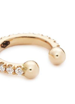 Detail View - Click To Enlarge - Kim Mee Hye - 'Single Rocker' diamond 18k rose gold lip ring