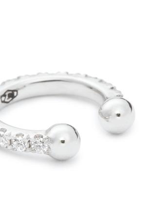 Detail View - Click To Enlarge - Kim Mee Hye - 'Single Rocker' diamond 18k white gold lip ring