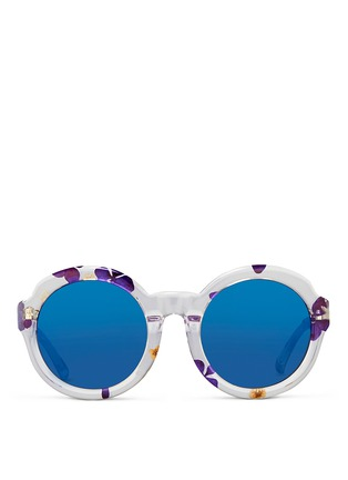 Main View - Click To Enlarge - 3.1 Phillip Lim - Pressed flower clear acetate oversize mirror sunglasses