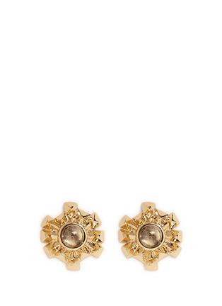 Main View - Click To Enlarge - Eddie Borgo - 'Sunburst' rock crystal stud earrings