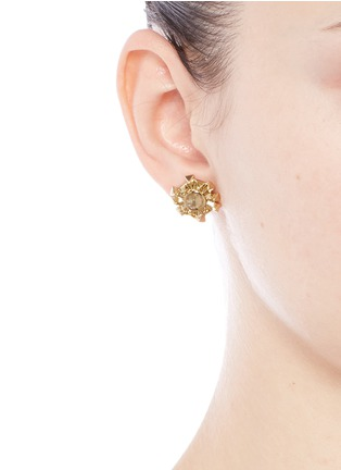 Figure View - Click To Enlarge - Eddie Borgo - 'Sunburst' rock crystal stud earrings