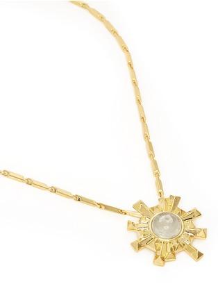 Detail View - Click To Enlarge - Eddie Borgo - 'Sunburst' rock crystal pendant necklace