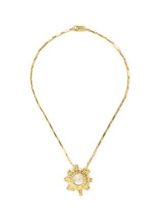 Main View - Click To Enlarge - Eddie Borgo - 'Sunburst' rock crystal pendant necklace