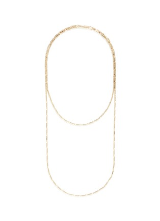Main View - Click To Enlarge - Eddie Borgo - Gold plated peaked chain necklace