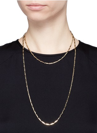 Figure View - Click To Enlarge - Eddie Borgo - Gold plated peaked chain necklace