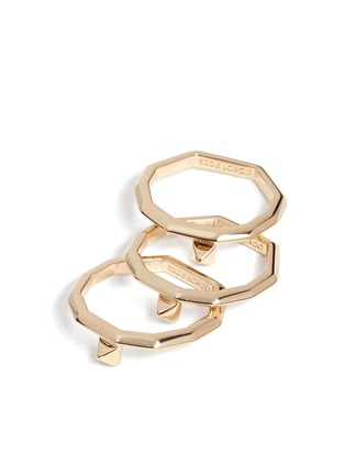 Detail View - Click To Enlarge - Eddie Borgo - Peaked gold plated three piece ring