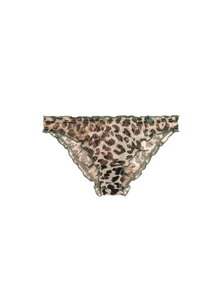 Main View - Click To Enlarge - Love Stories - 'Lolita' leopard print ruffle tulle briefs