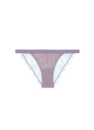 Main View - Click To Enlarge - Love Stories - 'Wild Rose' metallic knit lace briefs
