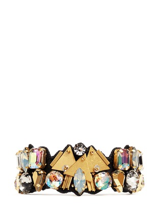 Main View - Click To Enlarge - J.CREW - Bead and crystal fabric-backed bracelet
